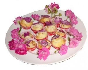 Muffins mit Blüten 1