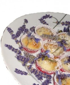 Muffins mit Blüten 2